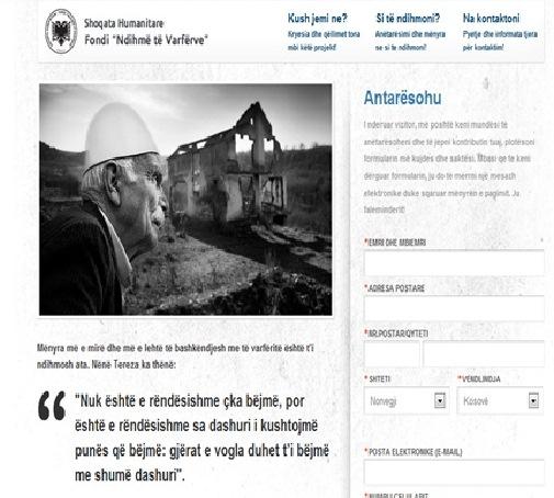 """Fondi humanitar """"Ndihmo te varfërve"""" Norvegji pasurohet me web faqe profesionale!"""